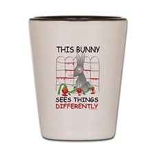 This Bunny Sees Things Differently Shot Glass