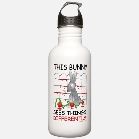 This Bunny Sees Things Differently Water Bottle