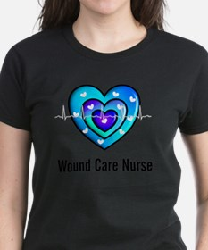 Wound Care nurse Blue Whites Tee