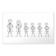 Super Family 4 Boys Decal