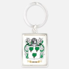 Irvin Coat of Arms (Family Crest Portrait Keychain