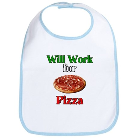 Will Work for Pizza Bib