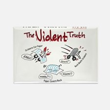 Paper Scissors Rock- The Violent Truth Magnets