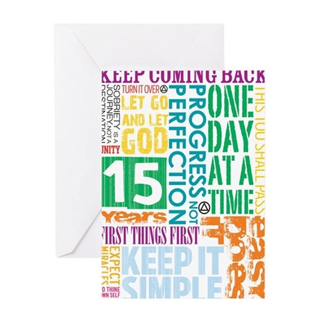 15 Years Greeting Cards