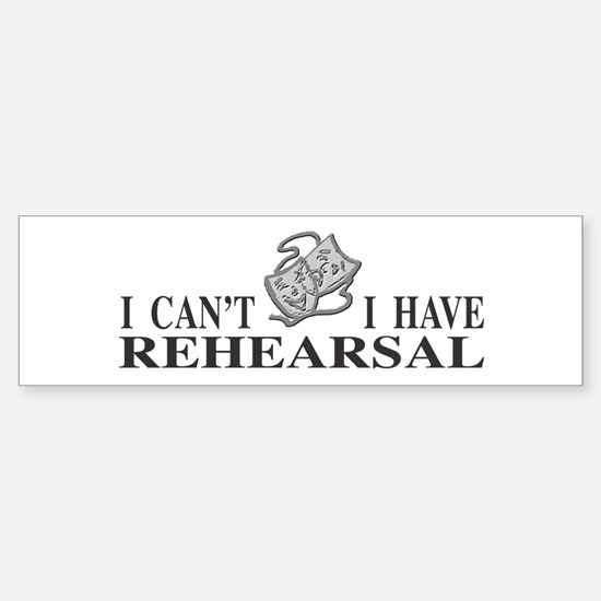 Rehearsal with Drama Masks Bumper Bumper Bumper Sticker