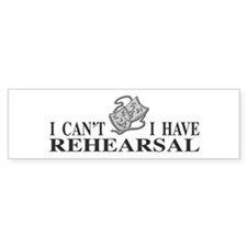 Rehearsal with Drama Masks Bumper Car Sticker