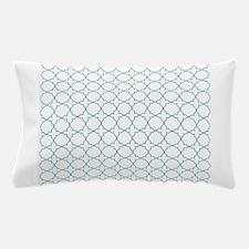 Turquoise Quatrefoil Pillow Case