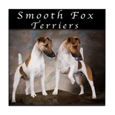 Smooth Fox Terriers Tile Coaster