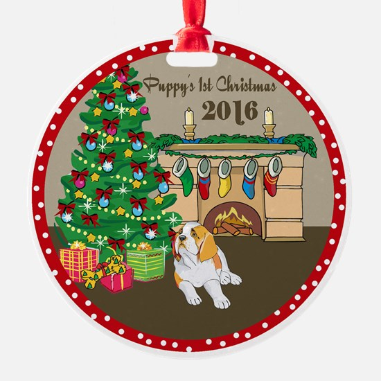 Puppy Christmas Ornament  CafePress