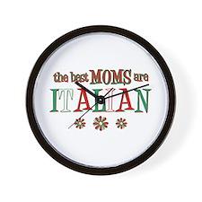 Italian Moms Wall Clock