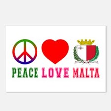Peace Love Malta Postcards (Package of 8)