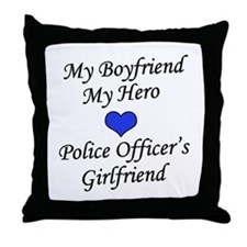 Police Officer's Girlfriend Throw Pillow