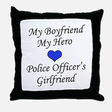 Police Officer's Girlfriend Throw Pillow