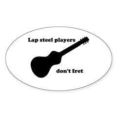 Lap steel - Oval Decal
