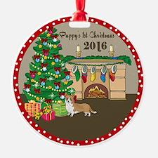 2016 Welsh Corgi 1St Christmas Ornament