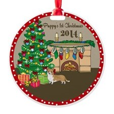 2014 Welsh Corgi 1St Christmas Ornament