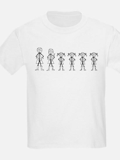 Super Family 4 Girls T-Shirt