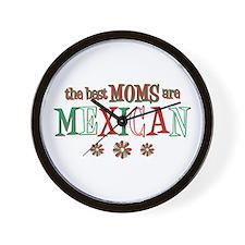 Mexican Moms Wall Clock