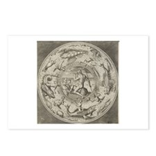 Neptune and Sea Monsters Postcards (Package of 8)