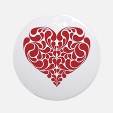 Real Heart Round Ornament