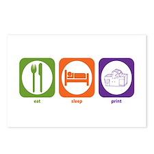 Eat Sleep Print Postcards (Package of 8)