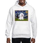 Starry Night Bichon Hooded Sweatshirt
