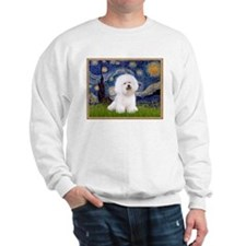 Starry Night Bichon Sweatshirt