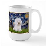 Starry Night Bichon Large Mug