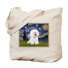 Starry Night Bichon Tote Bag