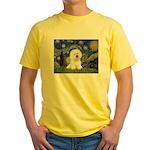 Starry Night Bichon Yellow T-Shirt