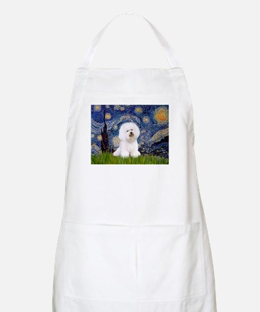 Starry Night Bichon Apron