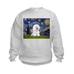 Starry Night Bichon Kids Sweatshirt