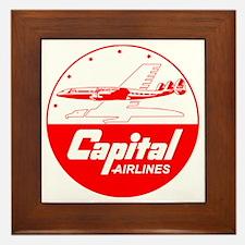 Capital Airlines Constellation Framed Tile