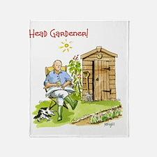Head Gardener! Throw Blanket