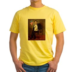 Lincoln & his Bichon Yellow T-Shirt