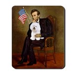 Lincoln & his Bichon Mousepad