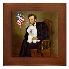 Lincoln & his Bichon Framed Tile