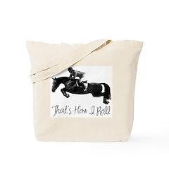 Hunter Jumper Horse, I Roll Tote Bag