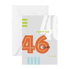 AA Anniversary 46 Years Greeting Cards