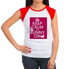 Keep Calm and Bunny On Women's Cap Sleeve T-Shirt