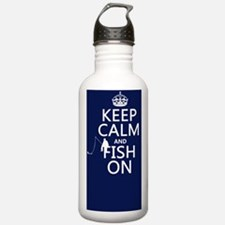 Keep Calm and Fish On Water Bottle