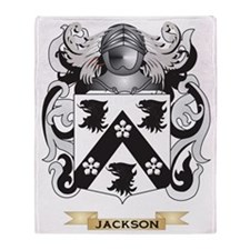 Jackson Coat of Arms (Family Crest) Throw Blanket
