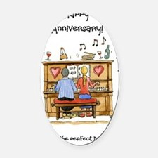 Happy Anniversary - to the perfect Oval Car Magnet