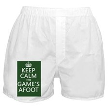 Keep Calm the Game's Afoot Boxer Shorts