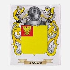 Jacob Coat of Arms (Family Crest) Throw Blanket