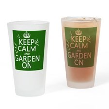 Keep Calm and Garden On Drinking Glass