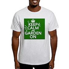 Keep Calm and Garden On T-Shirt