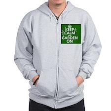 Keep Calm and Garden On Zip Hoodie