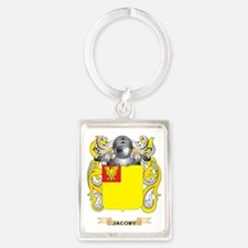 Jacoby Coat of Arms (Family Cres Portrait Keychain