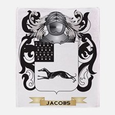 Jacobs-2 Coat of Arms (Family Crest) Throw Blanket